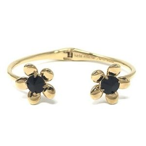 Kate Spade Sunset Blooms Gold Tone Open Bracelet